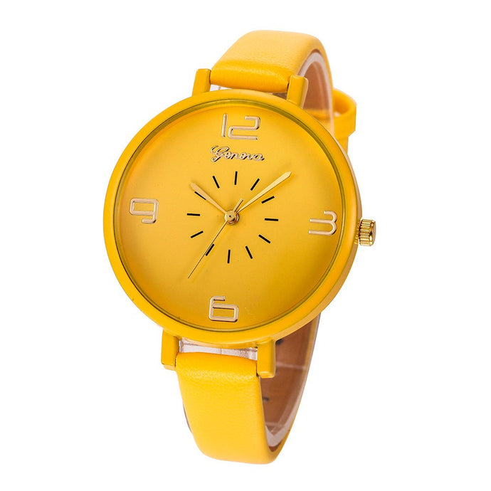 <B>ROUNDLY</B> | Orologio donna e ragazza colore <B>GIALLO ORO</B> (<I>Woman and girl watch GOLDEN YELLOW</I>)
