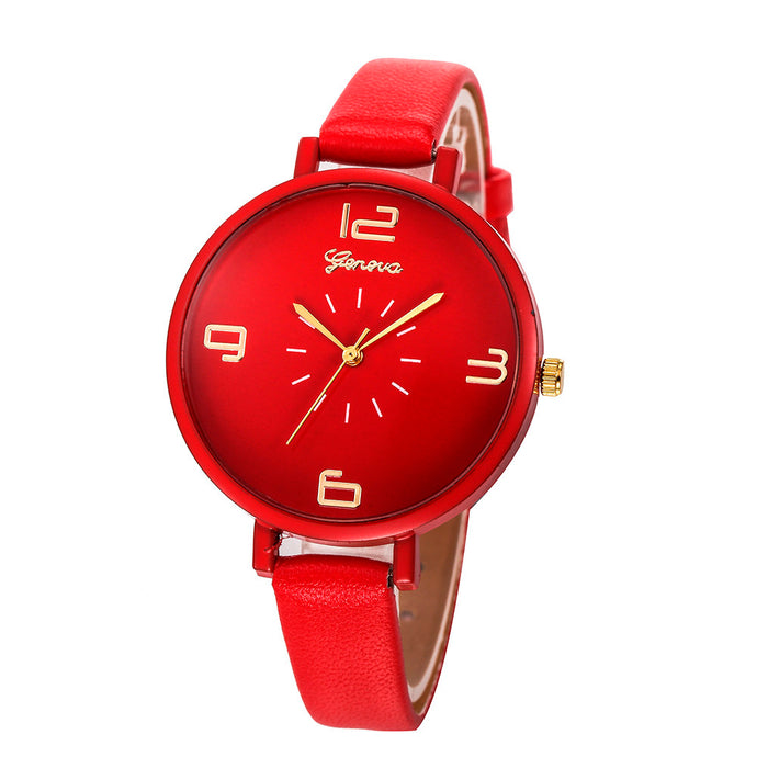 <B>ROUNDLY</B> | Orologio donna e ragazza colore <B>ROSSO</B> (<I>Woman and girl watch RED</I>)
