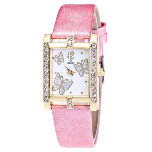 <B>SQUARE</B> | Orologio donna e ragazza colore <B>ROSA</B> (<I>Woman and girl watch PINK</I>)