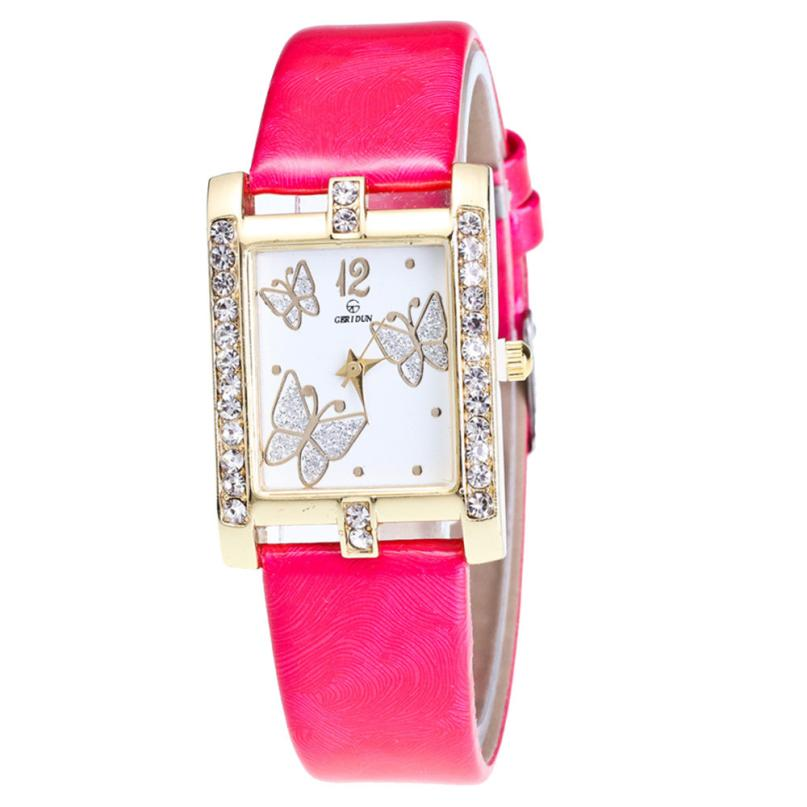 <B>SQUARE</B> | Orologio donna e ragazza colore <B>ROSSO</B> (<I>Woman and girl watch RED</I>)