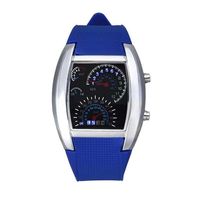 <B>LEDLUM DECOR</B> | Orologio LED uomo e ragazzo colore <B>BLU</B> (<I>Man and boy LED watch BLUE</I>)
