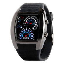 Carica l'immagine nel visualizzatore di Gallery, <B>LEDLUM DECOR</B> | Orologio LED uomo e ragazzo colore <B>NERO</B> (<I>Man and boy LED watch BLACK</I>) (Load image into Gallery viewer, <B>LEDLUM DECOR</B> | Orologio LED uomo e ragazzo colore <B>NERO</B> (<I>Man and boy LED watch BLACK</I>))