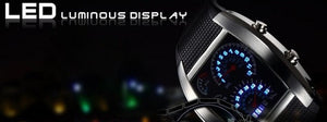 <B>LEDLUM DECOR</B> | Orologio LED uomo e ragazzo colore <B>NERO</B> (<I>Man and boy LED watch BLACK</I>)