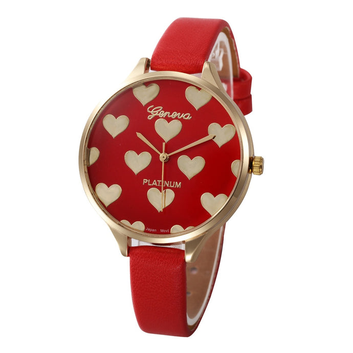 <B>HEART TIME</B> | Orologio donna e ragazza colore <B>ROSSO</B> (<I>Woman and girl watch RED</I>)