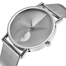 Carica l'immagine nel visualizzatore di Gallery, <B>STEEL TIME</B> | Orologio UNISEX per donna e uomo quadrante <B>BIANCO</B> cinturino <B>ACCIAIO</B> (<I>UNISEX watch for woman and man WHITE dial IRON strap</I>) (Load image into Gallery viewer, <B>STEEL TIME</B> | Orologio UNISEX per donna e uomo quadrante <B>BIANCO</B> cinturino <B>ACCIAIO</B> (<I>UNISEX watch for woman and man WHITE dial IRON strap</I>))