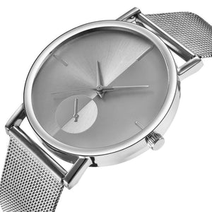<B>STEEL TIME</B> | Orologio UNISEX per donna e uomo quadrante <B>BIANCO</B> cinturino <B>ACCIAIO</B> (<I>UNISEX watch for woman and man WHITE dial IRON strap</I>)