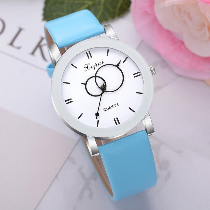 <B>BRISK white</B> | Orologio UNISEX per donna, uomo, ragazza e ragazzo colore <B>CELESTE</B> (<I>UNISEX watch for men, woman, girl and boy LIGHT BLUE</I>)