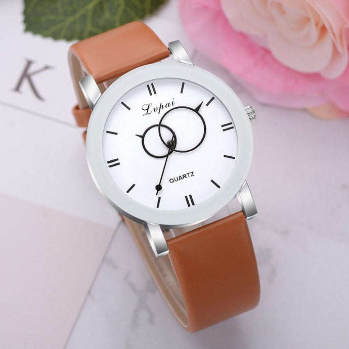 <B>BRISK white</B> | Orologio UNISEX per donna, uomo, ragazza e ragazzo colore <B>MARRONE</B> (<I>UNISEX watch for men, woman, girl and boy BROWN</I>)