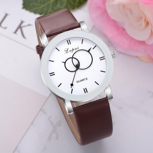 <B>BRISK white</B> | Orologio UNISEX per donna, uomo, ragazza e ragazzo colore <B>MARRONE SCURO</B> (<I>UNISEX watch for men, woman, girl and boy DARK BROWN</I>)
