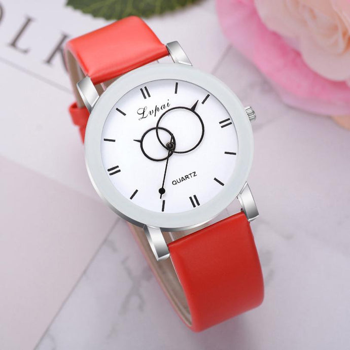 <B>BRISK white</B> | Orologio UNISEX per donna, uomo, ragazza e ragazzo colore <B>ROSSO</B> (<I>UNISEX watch for men, woman, girl and boy RED</I>)