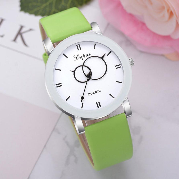 <B>BRISK white</B> | Orologio UNISEX per donna, uomo, ragazza e ragazzo colore <B>VERDE</B> (<I>UNISEX watch for men, woman, girl and boy GREEN</I>)