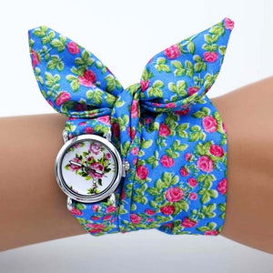 -20% non in stock: <B>FLOFLOWER</B> | Orologio FOULARD a trama floreale in stoffa per donna e ragazza trama <B>XH02</B> (<I>Floral-weaved FOULARD watch made of cloth for women and girls plot XH02</I>)