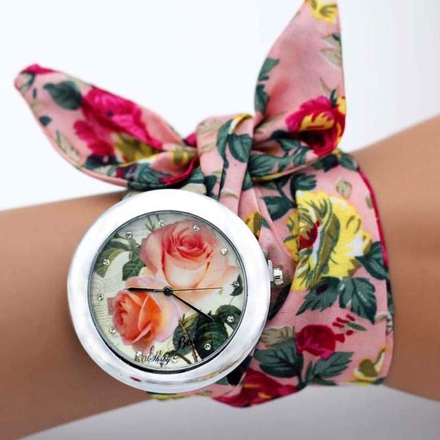-20% non in stock: <B>FLOFLOWER</B> | Orologio FOULARD a trama floreale in stoffa per donna e ragazza trama <B>BG11</B> (<I>Floral-weaved FOULARD watch made of cloth for women and girls plot BG11</I>)