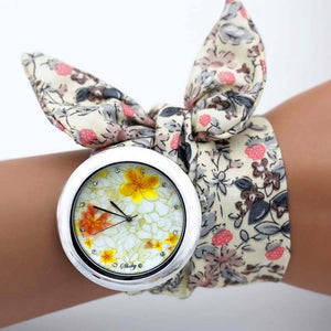 -20% non in stock: <B>FLOFLOWER</B> | Orologio FOULARD a trama floreale in stoffa per donna e ragazza trama <B>BG20</B> (<I>Floral-weaved FOULARD watch made of cloth for women and girls plot BG20</I>)