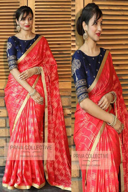 Banarasi silk with Embroidered work Party wear Bollywood stylish Saree