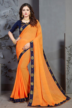 Thread Embroidery Work Beautiful Sarees for function & Reception Wear