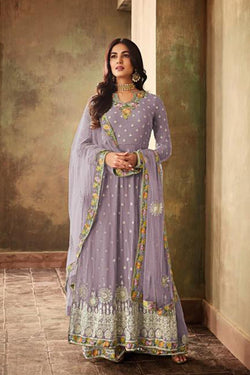 Fashionable Embroidery Bollywood Plazzo Suit from Sonal Chauhan wardrobe