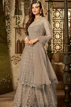Latest Designer Plazzo Dress with Trendy Embroidery Work