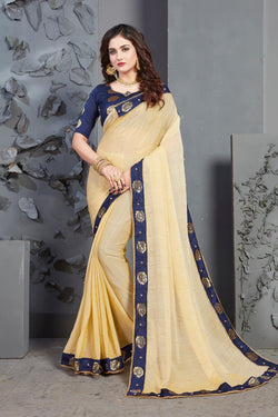 Gorgeous Moti Work Wear Saree for Reception