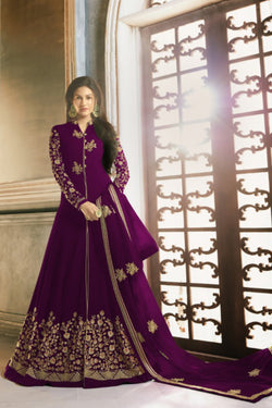 Good Looking Codding Stone Work Wedding Sangeet Wear Anarkali Gown
