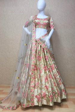 Reception Function Wear Bride Satin Silk Bollywood Lehenga Choli From Bridal Ethnic
