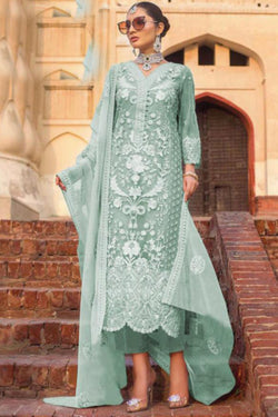 Evening Function Wear Bride Net Designer Salwar Suit