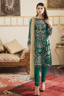 Bollywood Stylish Salawar Kameez In Green Georgette