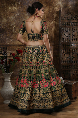 Wedding Wear Taffeta Silk Bridal Lehenga Choli From Bridal Ethnic