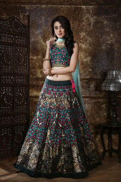 Wedding Sangeet Wear Thai Silk Rubber Foil Work Lehenga Choli Special From Bridal Ethnic