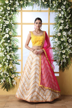 Function Wear Zari Sequence Embroidered Work Bollywood Style Lehenga Choli