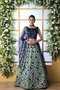 Art Silk Reception Party Wear Designer Lehenga Choli Special From Bridal Ethnic
