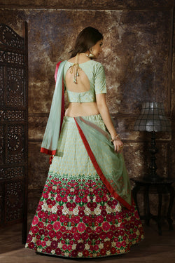 Reception Function Wear Thread Zari Work Bollywood Lehenga Choli