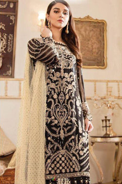 Pakistani Salwar Suit in Amazing Black Bride Net