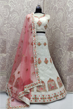 Multi Thread Work Wedding Wear Bridal Lehenga choli for Women Boutique Fashion