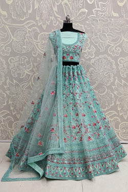Heavy Bride Net with Dori Embroidery Multi Thread Work Exclusive Heavy Lehenga Choli Special From Bridal Ethnic