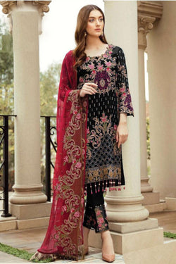Exclusive Semi Stitched Faux Georgette Pakistani Stylish Wedding Function Wear Palazzo Style Dress