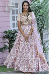 Chennai Silk Resham Zari Work Wedding Wear Bride Lehenga Choli for Boutique Women