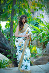 Sabyasachi Designed Saree in Banglori Silk Sequence Embroidery Work