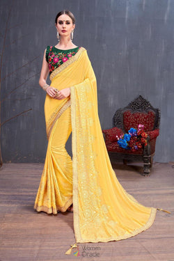 Fancy Beautifull Lace Work Saree in Bollywood style