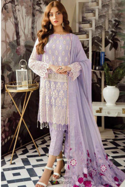 Latest Trendy Pakistani Designer Salwar Suit in Lavender