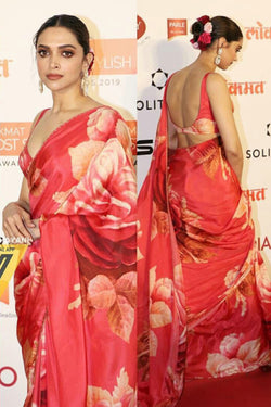 Sabyasachi Designed Bollywood Party wear Saree for Deepika Padukone