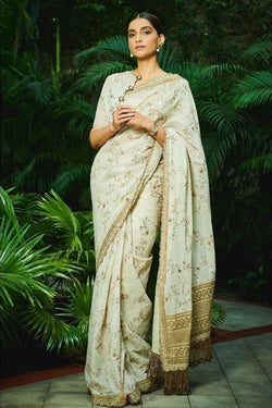 Bollywood Party wear Stylish Saree of Sonam Kapoor for Reception