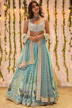 Indian Designer Reception Wear Women Oracle Lehenga Choli