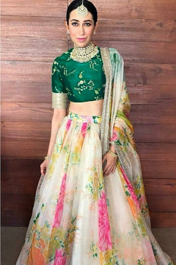 Party Wear Bollywood Lehenga Choli From Karisma kapoor Wardrobe