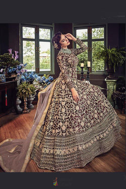 Floor Length Latest Trendy Anarkali Stylish Gown in Net