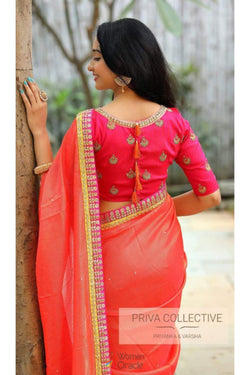 Latest Embroidered Work Bollywood Saree Sequence