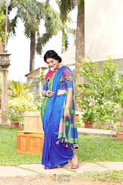 Festival Wear Digital Printed Saree in Lovely Suchitra Silk