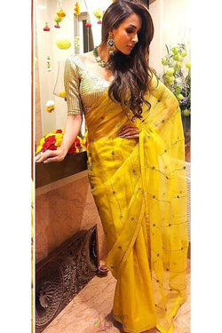Stylish Party wear Bollywood Saree from Malaika Arora wardrobe