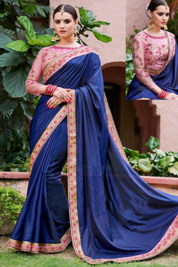 Evening Party wear Saree in Artistic Georgette with Thread Work