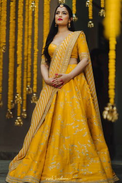Reception Wear Bollywood Lehenga Choli From Sabyasachi